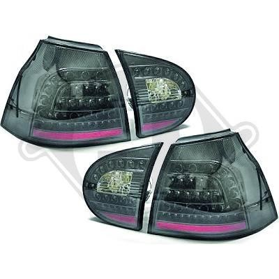 led r ckleuchten vw golf 5 flie heck 03 08 klarglas. Black Bedroom Furniture Sets. Home Design Ideas