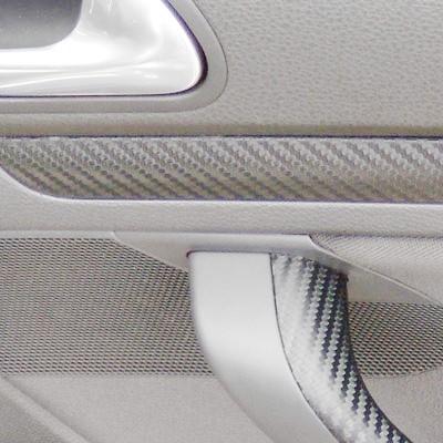 Carbonfolie silber für Karosserie, Interieur 50x152cm bis 200x152cm