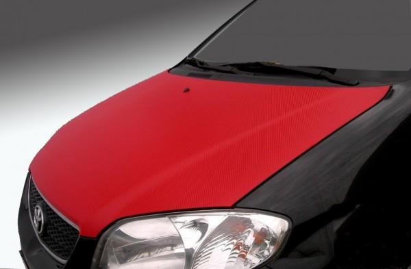 Carbonfolie rot für Karosserie, Interieur 50x152cm bis 200x152cm