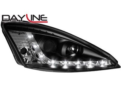 Scheinwerfer / Frontl. mit LED-Standlicht in Tagfahrlicht-Optik Ford Focus 01-04 schwarz