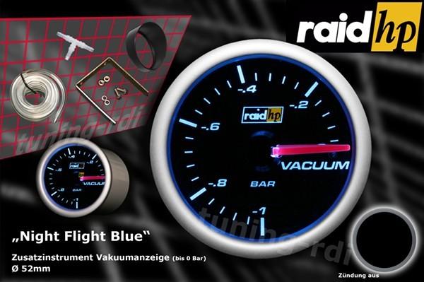 Serie Night Flight Blue Vacuumanzeige