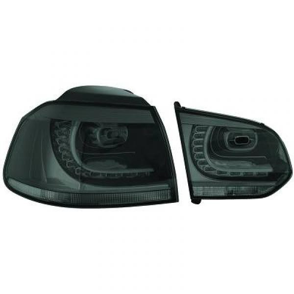 LED Rückleuchten VW Golf 6 Fließheck 08->> Klarglas smoke