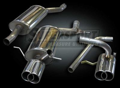 Edelstahl Auspuffanlage 63,5mm DUPLEX Audi A3 (8L) 08/96- 1.6,1.8,1.8T,1.9TDi (Otto 74,75,98,110,132