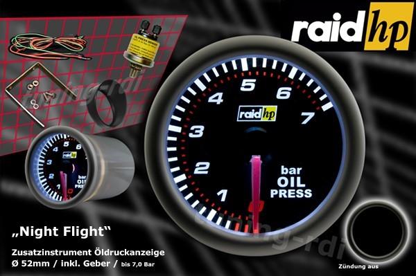 Öldruckanzeige Serie Night Flight