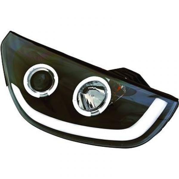 Scheinwerfer mit LED-Standlicht in Tagfahrlicht-Optik. Hyundai IX35 10->>