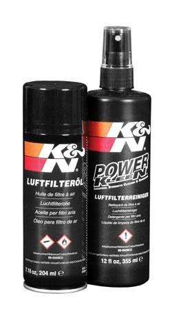 K&N Reinigungsset Luftfilterreiniger + Öl