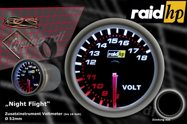 Serie Night Flight Voltmeter