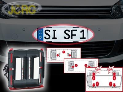 Kennzeichenhalter Simplefix schwarz für alle Kennzeichen