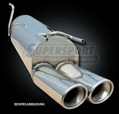 Sportauspuff Edelstahl DUPLEX VW Polo 4 (6N2) 10/99- 1.0,1.3,1.4,1.6,1.8,1.4D,1.9D,1.9SDi,1.9TDi