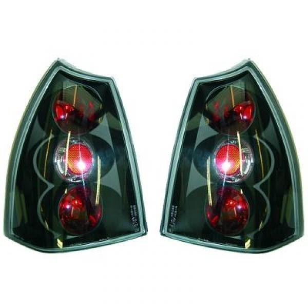 Rückleuchten Peugeot 307 Kombi 01-05 Klarglas schwarz