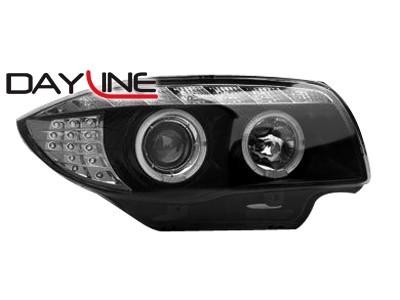 Scheinwerfer mit LED-Standlicht in Tagfahrlicht-Optik BMW 1er E87/81 04-09 schwarz