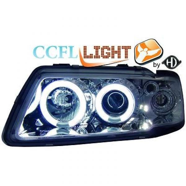 Scheinwerfer / Frontleuchte mit Standlichtringen in CCFL Technik. Audi A3 8L 96-00