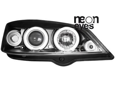 Scheinwerfer Opel Astra G 98-04 2 CCFL Standlichtringe schwarz