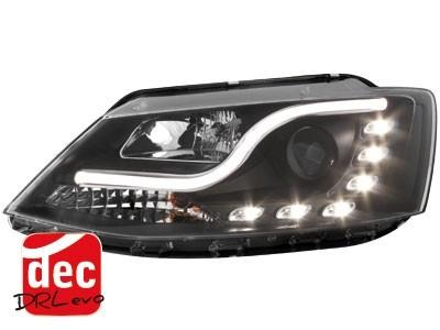 Scheinwerfer mit echtem Tagfahrlicht VW Jetta 11+ schwarz