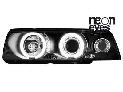 Scheinwerfer BMW E36 Lim. 7.92-3.98 2 CCFL Standlichtringe schwarz