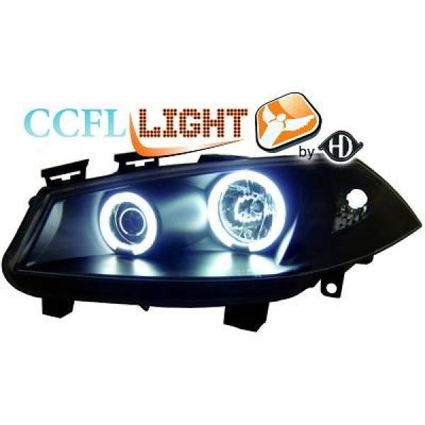 Scheinwerfer mit Standlichtringen in CCFL Technik. Renault Megane II 02-05