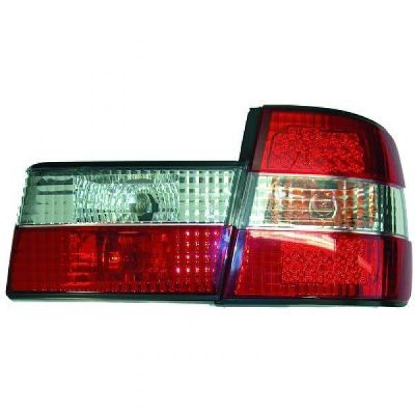 LED Rückleuchten BMW 5-Reihe (E34) Limousine 88-95 Klarglas rot-weiss