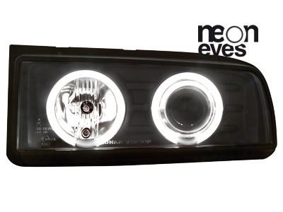 Scheinwerfer VW Corrado 87-95 2 CCFL Standlichtringe schwarz