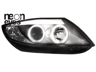Scheinwerfer BMW Z4 02-08 2 CCFL Standlichtringe schwarz