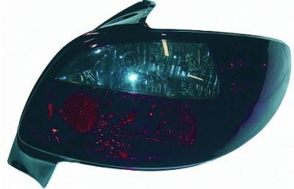 Rückleuchten Peugeot 206/ 98->> nicht 206CC Klarglas rot-grau