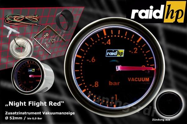 Serie Night Flight Red Vacuumanzeige