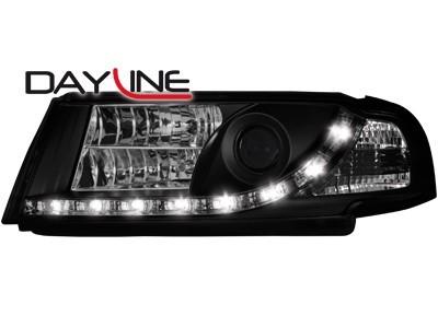 Scheinwerfer mit LED-Standlicht in Tagfahrlicht-Optik Skoda Octavia I 00-04 schwarz