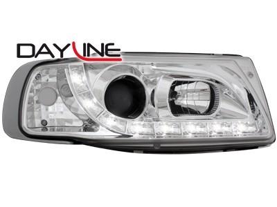 Scheinwerfer / Frontleuchte mit LED-Standlicht in Tagfahrlicht-Optik Seat Ibiza 6K 93-00 chrom