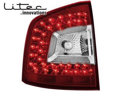 Rückleuchten LITEC LED Skoda Octavia 1Z 04-11 rot klar