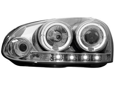 Scheinwerfer VW Golf V 03-09, Jetta 2 Standlichtringe chrom
