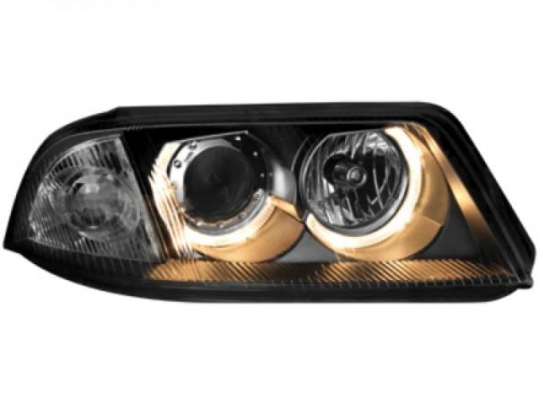 Scheinwerfer VW Passat 3BG 00-04 2 Standlichtringe schwarz