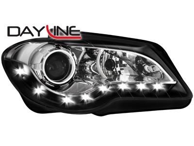 Scheinwerfer mit LED-Standlicht in Tagfahrlicht-Optik VW Touran 1TGP 06-10 schwarz