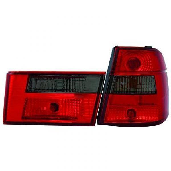 Rückleuchten BMW 5-Reihe (E34) Touring 88-95 Klarglas rot-schwarz