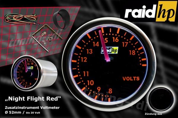 Serie Night Flight Red Voltanzeige