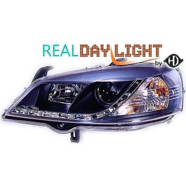 Scheinwerfer mit echtem Tagfahrlicht RL87 Kennung. Opel Astra G 97-04
