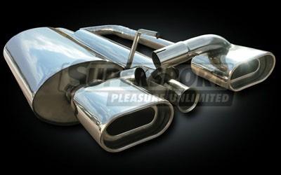 Edelstahl Auspuffanlage 63,5mm DUPLEX BMW 3er (E36) 09/90- 316i (Otto 77KW)