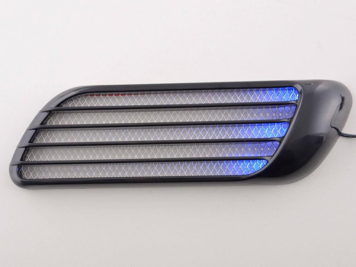 lufthutzen set mit gittereinsatz und beleuchtung lufthutze exterieur auto sport zubeh r. Black Bedroom Furniture Sets. Home Design Ideas