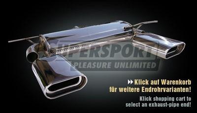 Sportauspuff Edelstahl DUPLEX VW Golf 5 (1K) 10/03- 1.4,1.6,1.8,2.0,1.9TDI,2.0TDI (Otto 55,66,75