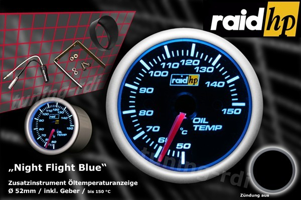 Öltemperaturanzeige Serie Night Flight Blue