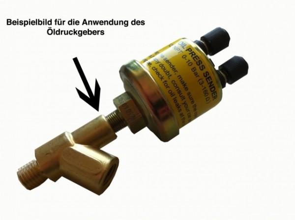 Y-Adapter R 1/8 DIN2999 für Öldruck Geber Montage