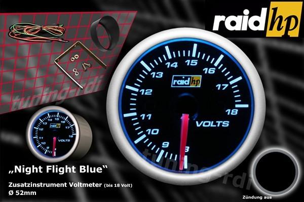 Serie Night Flight Blue Voltanzeige
