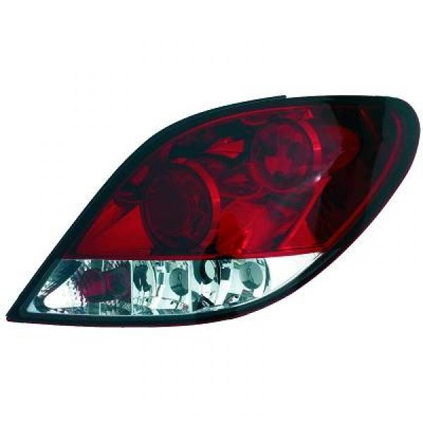 Rückleuchten Peugeot 207 Limousine 06-12 nicht 207CC Klarglas rot-weiss