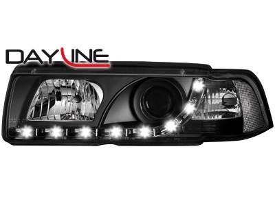 Scheinwerfer mit LED-Standlicht in Tagfahrlicht-Optik BMW E36 Coupe 92-98 schwarz