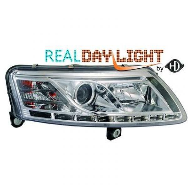 Scheinwerfer / Frontleuchte mit echtem Tagfahrlicht RL87 Kennung. Audi A6 4F 04-08